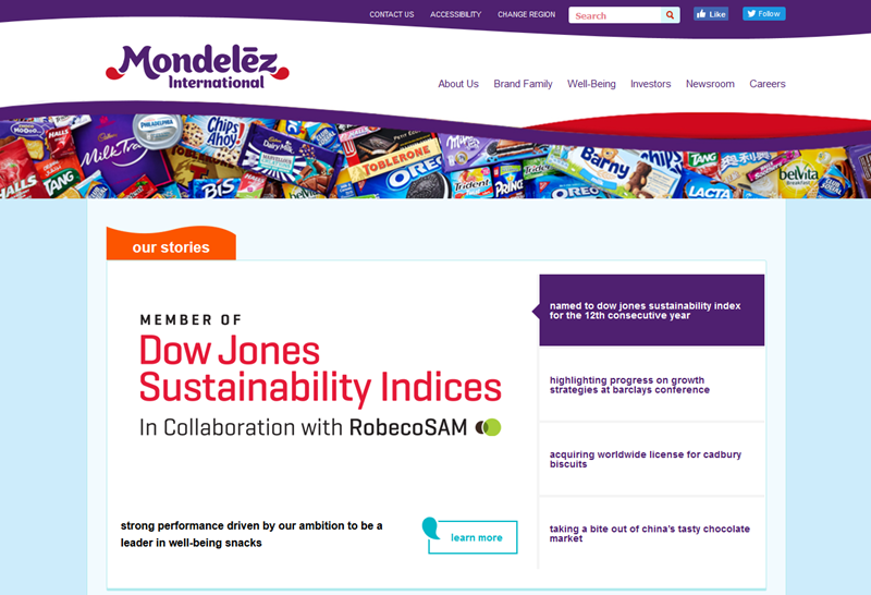 Mondelez International OREO Corporate Website