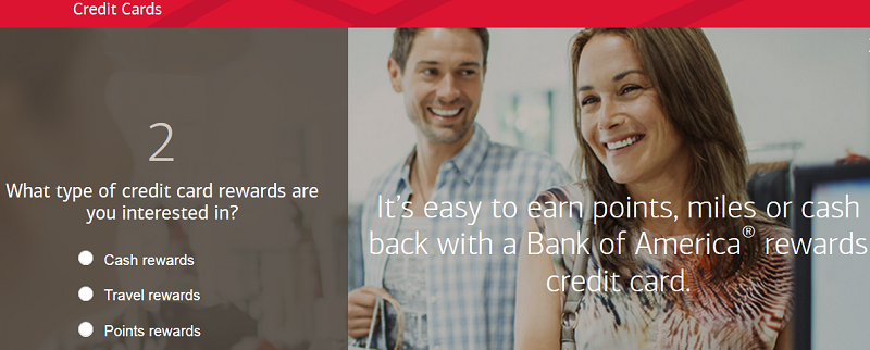 Bank of America's product advisor tool