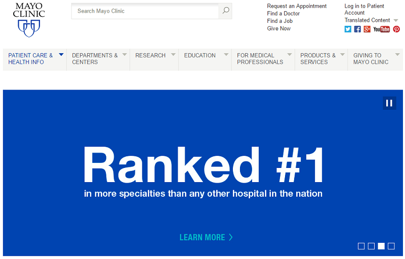 What Makes A Good Clinic Website: Top 10 U S  Clinics